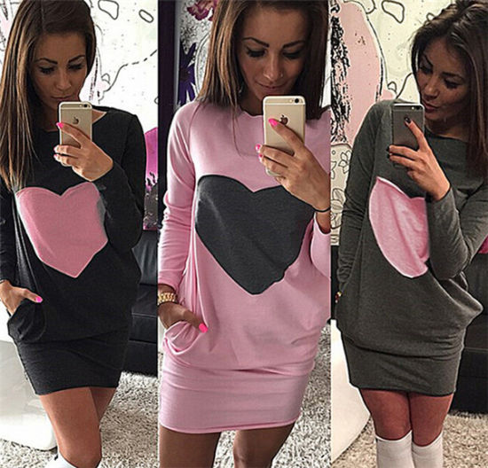 China Wholesale Latest Lady 3 Colors Sexy Long Sleeve Plus Size