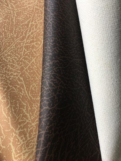 Soft Wet PU Synthetic Artificial Faux Leather for Sofa/ Chair/ Furniture /Garment/ Shoes--King pictures & photos