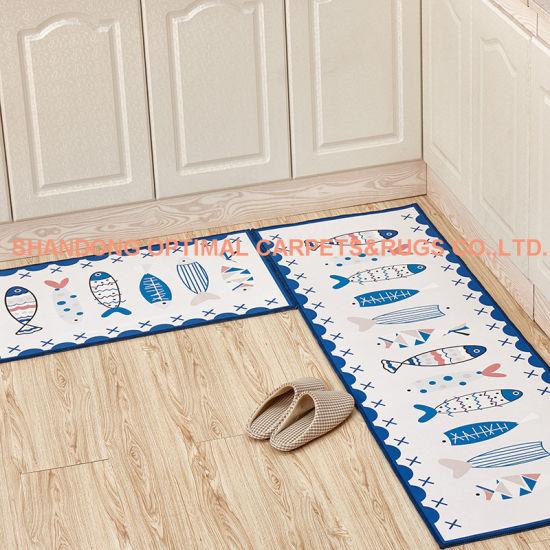 China Custom Size Printed Foot Mats Ground Mat Floor Carpet for ...