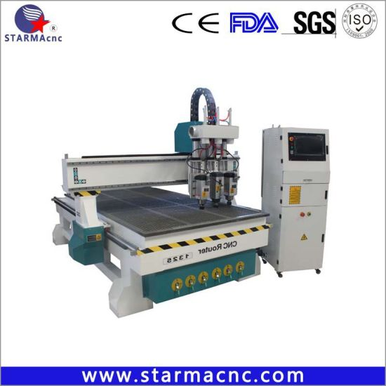 Multi Head Air Cylinder CNC Engraving Machine / CNC Router 1325 / CNC Wood Router