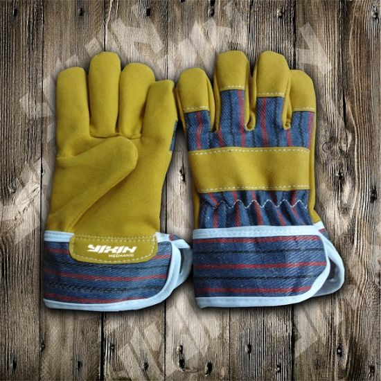 Work Glove- Gloves-Synthetic Leather Glove- Safety Glove-Industrial Gloves- pictures & photos
