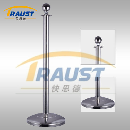Exhibition/ Museum/ Airport Velvet Rope Stanchion and Twisted Rope Barrier