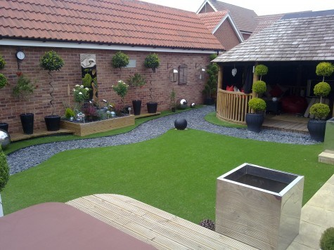 UV Resistant 40mm Short Artificial Grass for Landscaping (L40-E2) pictures & photos