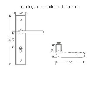 304 Stainless Steel Hollow Door Handle on Plate (KTG-8502-010) pictures & photos