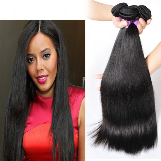 Women Hair Peruvian Straight Hair Weave Bundles 8-28inch Human Hair 3  Bundles Double Weft Remy Hair Extension bd1226b8fb