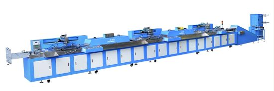 Automatic Fabric Label Silk Screen Printing Machine Roll to Roll pictures & photos