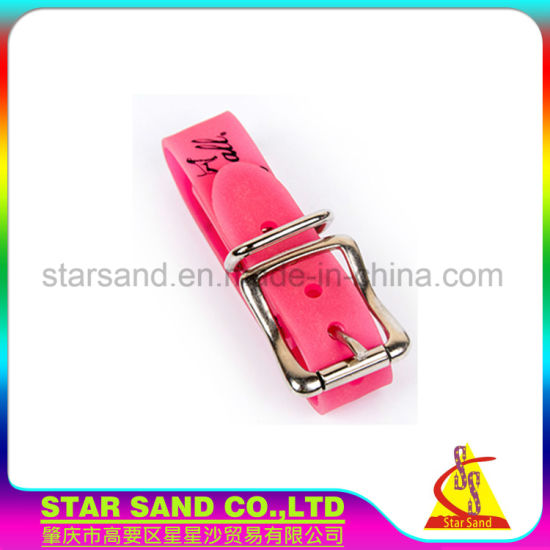 china customized colorful waterproof pvc dog collars cute design
