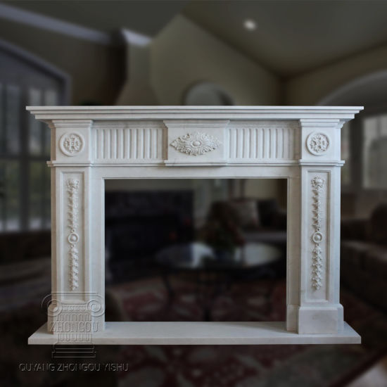 Marble Fireplace with Good Hand-Carved Quality pictures & photos