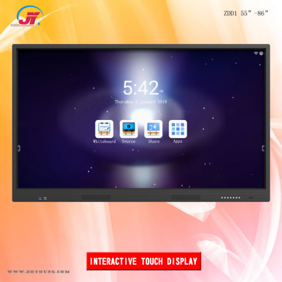 75 Inch Interactive Touch Screen Smart Electronic Whiteboard Display for Meeting Conference and Classroom Education (IDD-IT750-XZMS638)