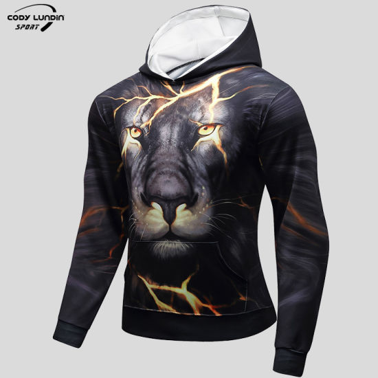 Cody Lundin Hoodies China Factory 93%Polyester+7%Spandex Hooded Sweatshirt Hoodies for Men for Cycling