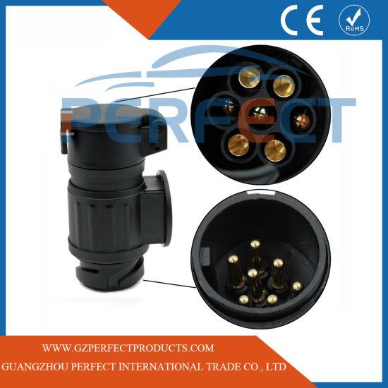 Waterproof 13 Pin to 7 Pin Trailer Truck Electric Towing Bar Plug Adaptor Socket