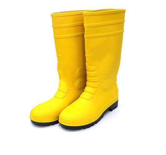 Rubber Rain Boots Men Shoes with Steel Toe Steel Cap pictures & photos