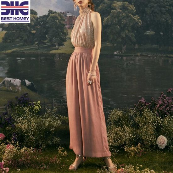 Women High Quality Solid Loose Trousers Clothing