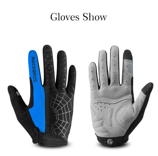 Full Finger Cycling Gloves Men Women MTB Road Bike Gloves Shockproof Touch Screen Bicycle Gloves