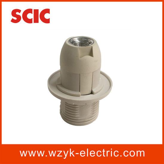 (YK764L) E14 Half Screw Plastic Lampholder