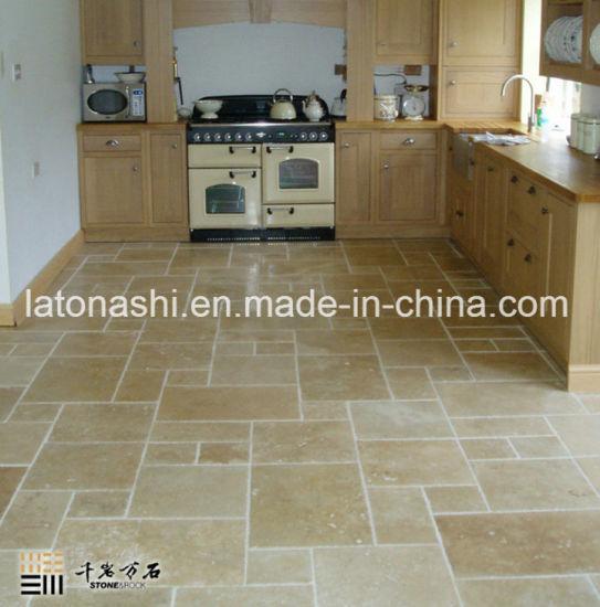 Filled Beige Travertine For Floor Tile