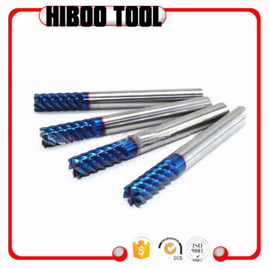 65HRC Blue Nano Coating Good Performance Carbide End Mill