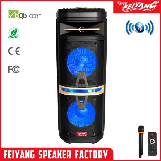New! Private Mould Outdoors Bluetooth Rechargeable Trolley Speaker --Double 10