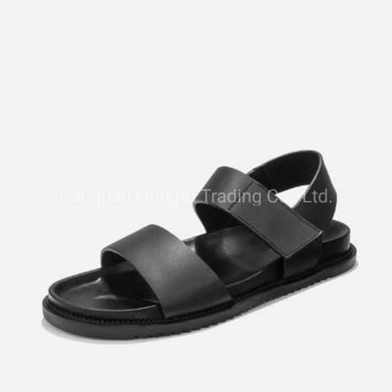 Supple Leather Sandal with EVA Rubber Sole