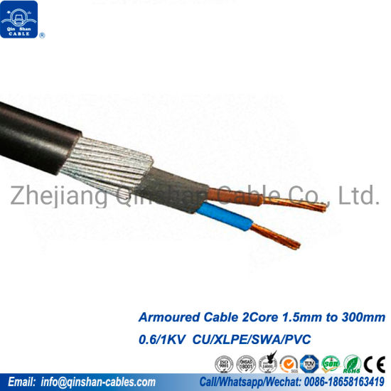 2.5mm 3 Core 50 Meter 6943X PVC Steel Wire Armoured Cable SWA Outdoor Cable