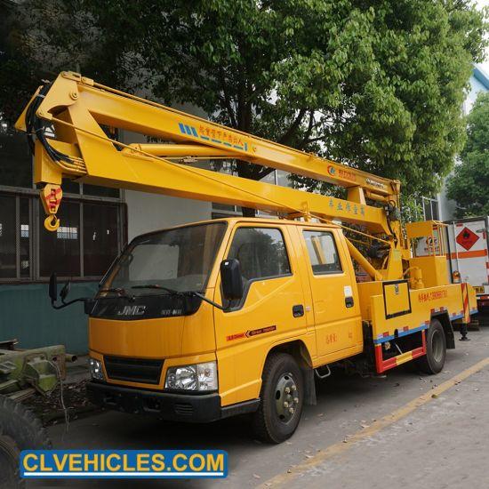 Light Maintenance Work Small Aerial Platform Vehicle Bucket Truck Boom Lift  Crane