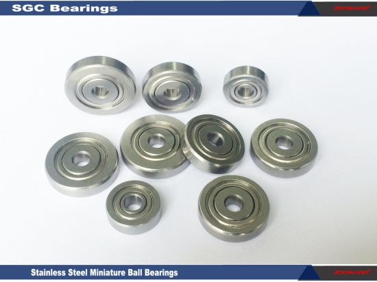 Special Dimensions of Ball Bearings with Stainless Steel AISI440c 0.1875*0.56*0.196 Inches
