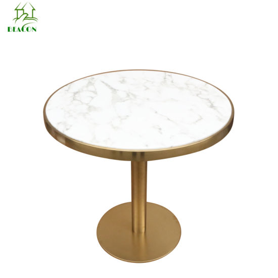 Copper Stainless Steel Artificial Marble Beetle Dining Table