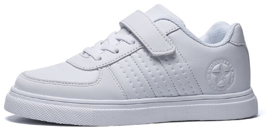 Children White School Sneaker Shoes (7008) pictures & photos