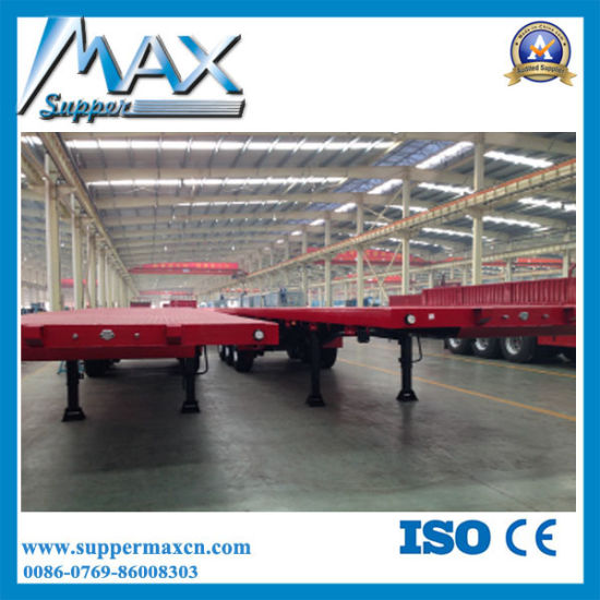 45 Tons Loading Capacity 40FT Container Flatbed Trailer