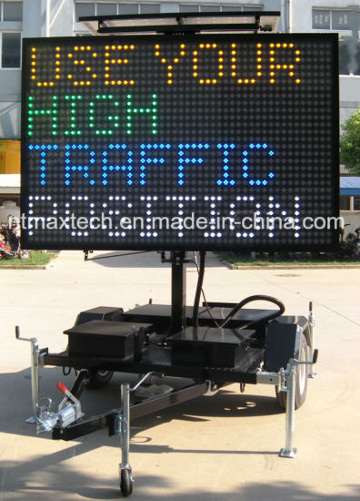 Global Qualified Green Solar Powered LED Displays Mobile Vms
