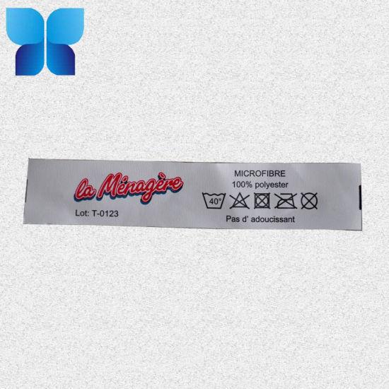 White Color Tyvek Paper Cigar Label Printing Care Label for Garment