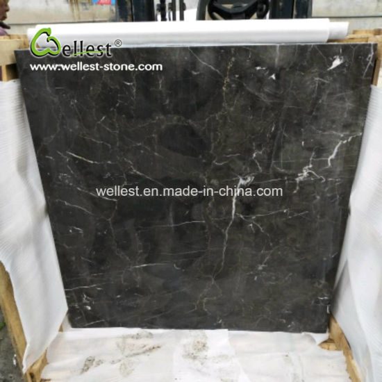 Polished Dark Emperador Black Marble Flooring Tile pictures & photos