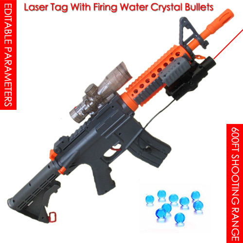 Original 600FT Laser Tag with Firing Water Crystal Bullet, Live Pubg Game, laser Battle