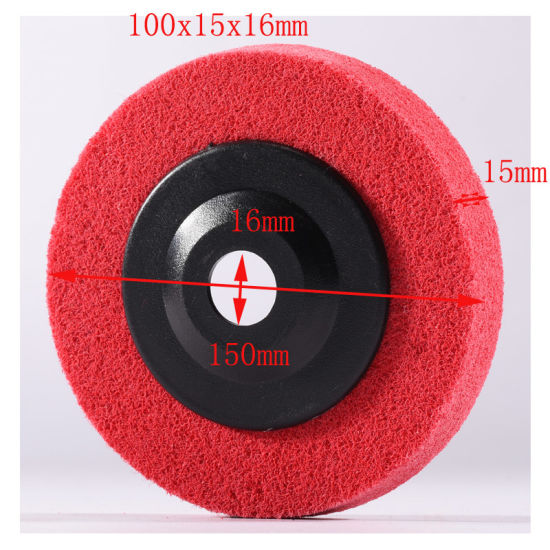 100X15mm 6p Portable Chop Saw Cutting Machine Safety Non Woven Grinding Disc pictures & photos