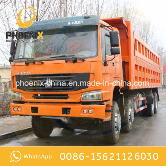 Excellent Condition HOWO 375HP 12tyres 8X4 Used Tipper Truck with Good Price for Africa