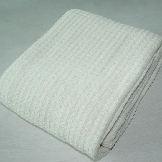 China 100 Soft Ring Spun Cotton Waffle Blanket China
