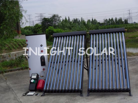 Pump Solar Water Heating System (2 Coils in Tank)