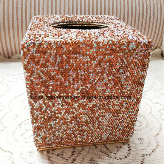 Car Home Square Crystal Diamond Tissue Box Container Towel Napkin Rhinestone Tissue Holder (TB-Square 017) pictures & photos
