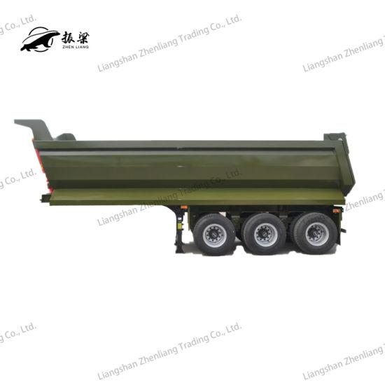 3 Axle U / Square Shape Dumper Dumping Tipper Hydraulic Side/Back/Rear/End Tipping Truck Semi Dump Trailer