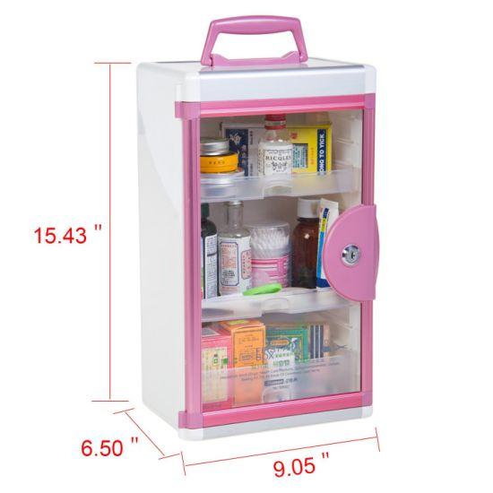 [Hot Item] Acrylic Glass Door Medicine Storage Box Aluminum First Aid Box
