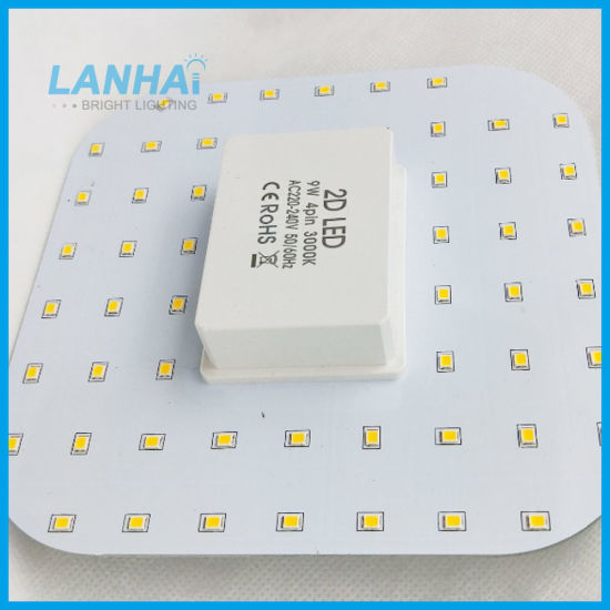 Emergency 2D LED Gr10q Gr8q Light 9W to Replace 20W Fluorescent Butterfly Lamp