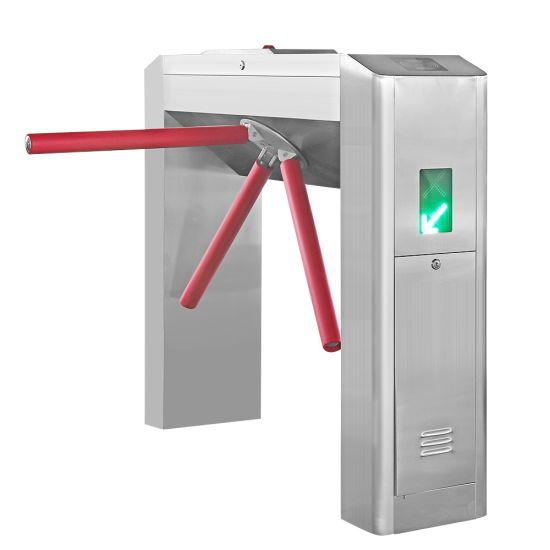 Semi-Auto Waist High Tripod Turnstile Intelligent Access Control Gate Stainless