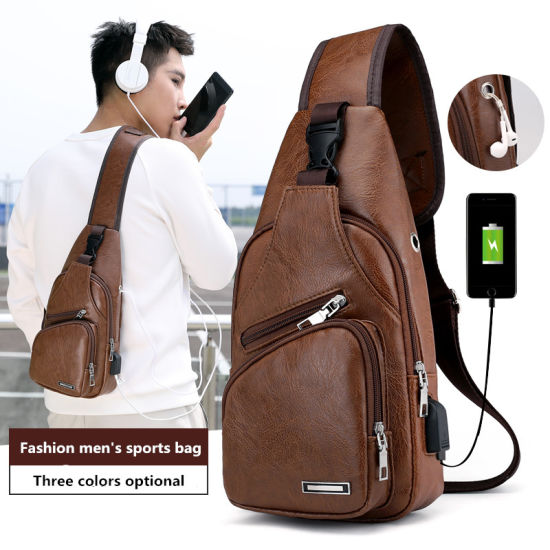 Leisure PU Chest Bag Men Crossboby Bags Waterproof Strap Shoulder Bag pictures & photos
