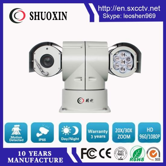 2.0MP 20X Zoom 100m HD IR PTZ Infrared Surveillance Camera pictures & photos