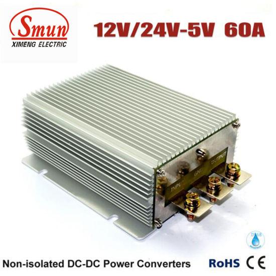 12V/24VDC to 5VDC 60A Car DC Converter Power Supply