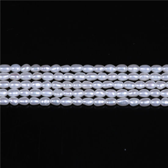 AA Quality 2mm Rice Shape Natural Freshwater Pearl Beads Jewelry DIY for Necklace Bracelet pictures & photos