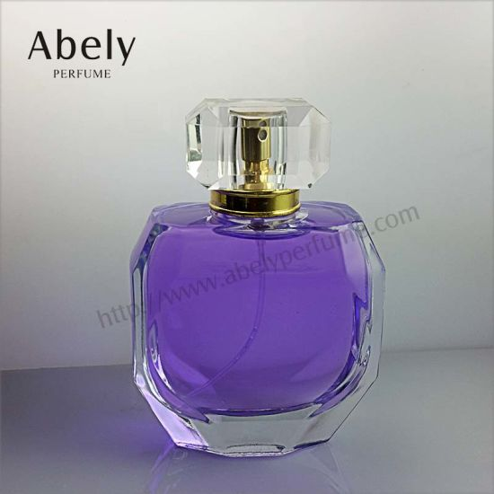 Polished and Color Coating Glass Perfume Bottle for Mass Market pictures & photos