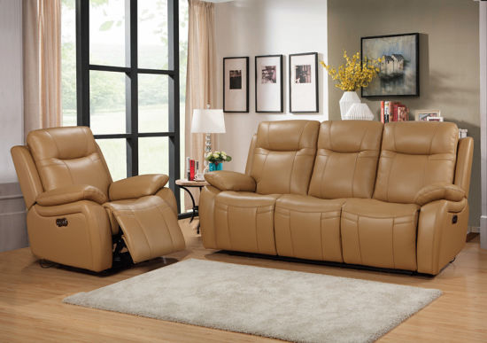 China Leather Reclining Sofa With 5