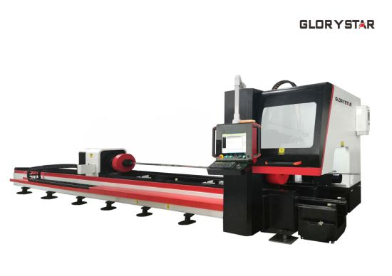 GS-6022tg Tube Pipe Fiber Laser Cutting Machinery with Automatic