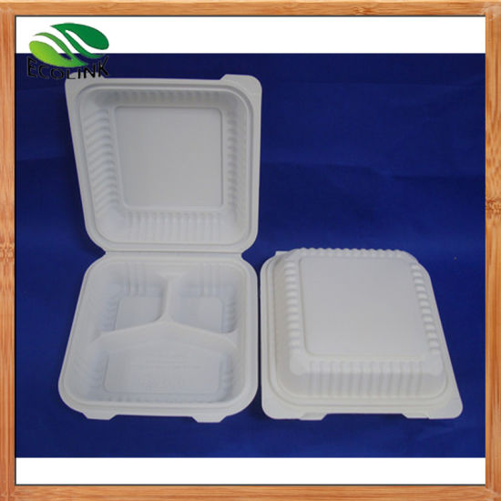 8inch Biodegradable Clamshell Box/ Lunch Box pictures & photos